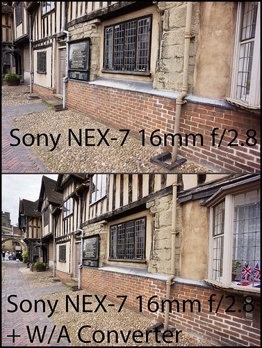 Sony NEX-7 16mm f/2.8 + Sony VCL-ECU1 18mm E-Mount Wide Angle Conversion Lens