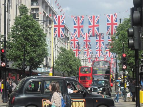 Flags Near Oxford Street