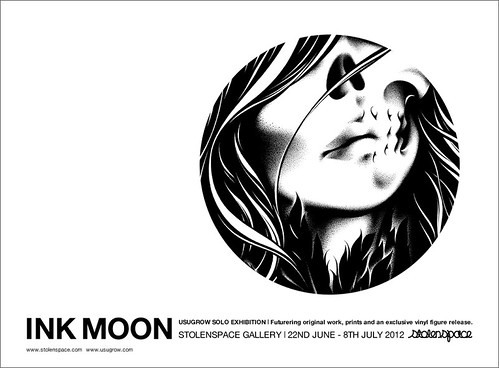 "USUGROW ""Ink Moon"" show at StolenSpace"