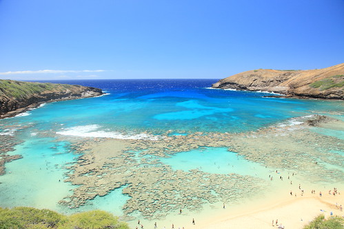 Hanauma Bay in Hawaii. Nature Preserve.
