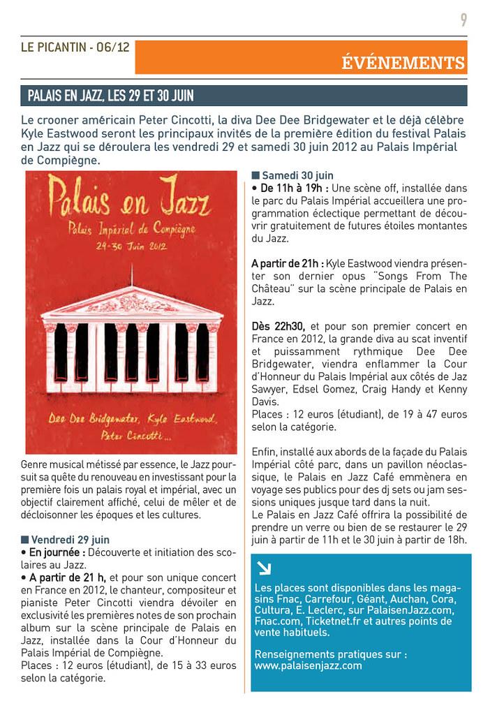 Palais en jazz les vendredi 29 et samedi 30 juin 2012 au Palais Impérial de Compiègne