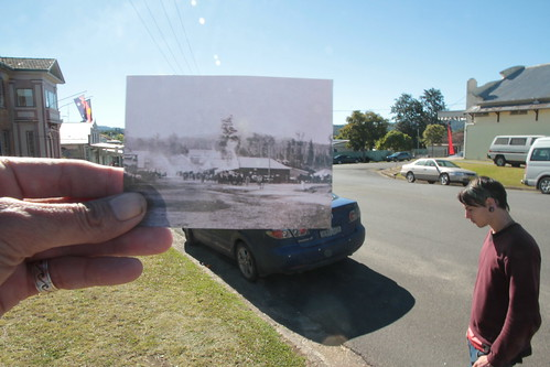 Looking north down High St Bowraville c1905