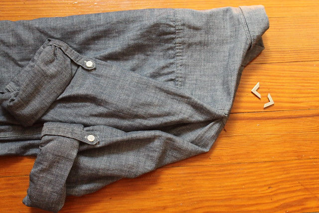 DIY: metal-tipped collared shirt