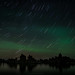 Star Trail and Aurora Borealis at Mono Lake