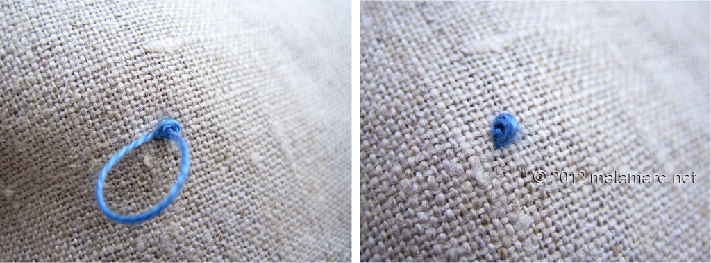 French knot stitch tutorial mala mare