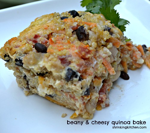beany & cheesy quinoa bake