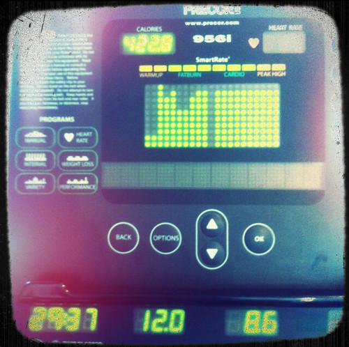 Precor Treadmill stats
