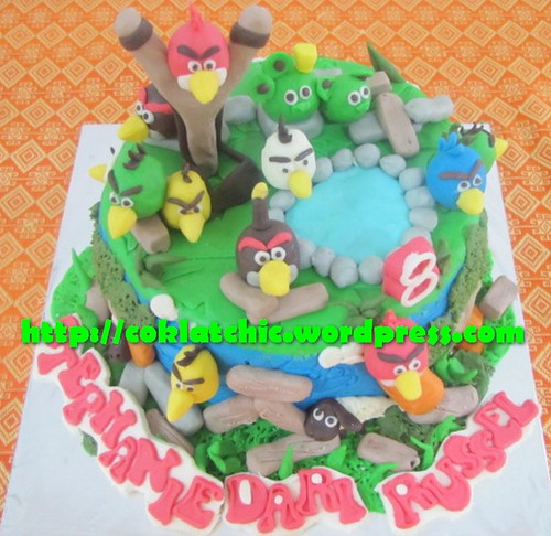 Kue ulang tahun dengan tema Cake Angry Bird model ini mulai dari harga ...