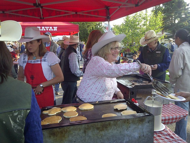 Calgary Stampede Breakfast Green Party Leader And Member