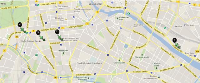Mapa Muro Berlim