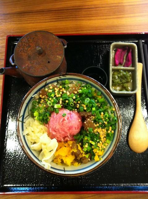 a donburi with shibazuke