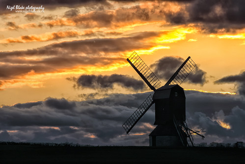 "Stevington Windmill, Bedfordshire, at dusk. ""Explored"" # 72 July 10th"