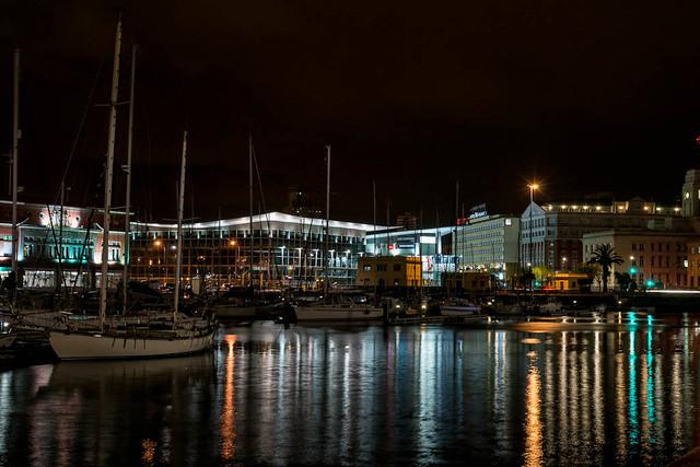 Puerto de noche - Coruña