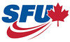 SFU Athletics logo for white background