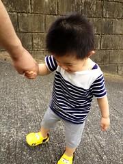 急な坂を登るよ^^ (2012/7/14)
