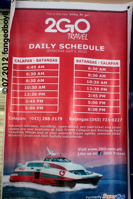 2go travel  formerly supercat  departure schedule