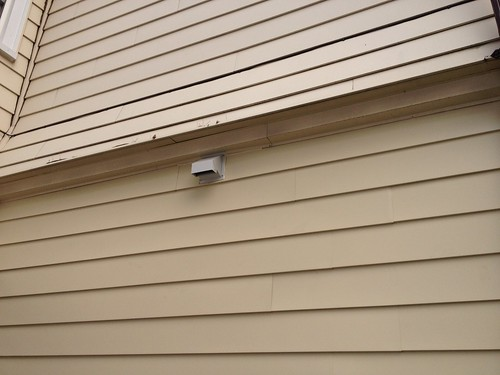 Day 4 Fan vent and new siding