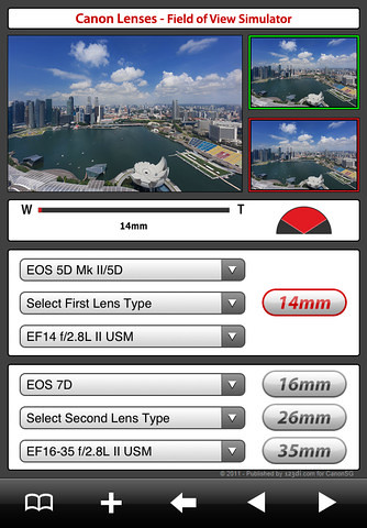 Free CanonSGLens App for DSLR Users   Canon EOS World