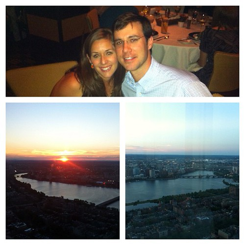 Perfect birthday dinner overlooking Boston at Top of the Hub