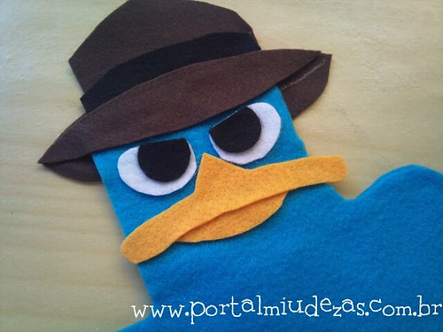 Fantoche Perry , o ornitorrinco, de Phineas &Ferb by miudezas_miudezas