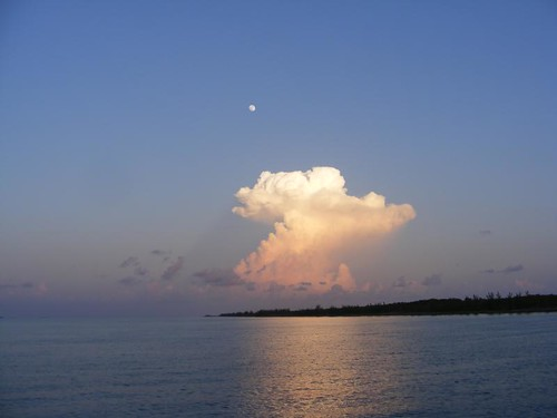 Moonrise over the thunderhead