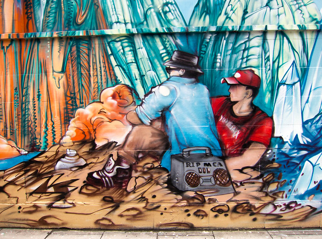 Mca mural by vision flickr photo sharing for Beastie boys mural