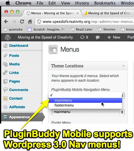 Moving at the Speed of Creativity - Professionally Mobilize Your WordPress Blog with PluginBuddy ...