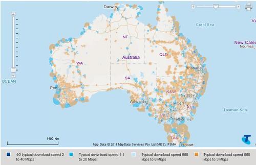 australia 4g map