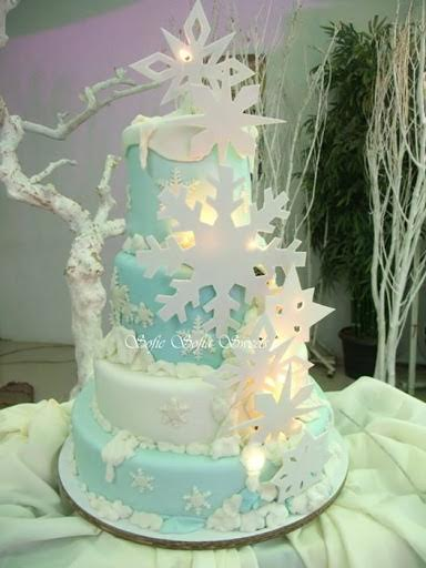 Winter Wonderland Themed Cake by Aubrey and Herleen of Sofie Sofia Sweets