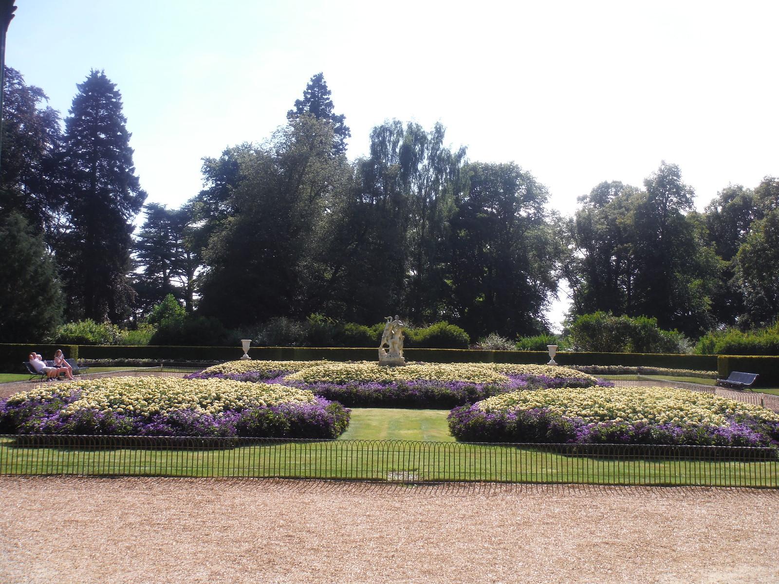 Flowerbeds by Aviary, Waddesdon Manor Gardens SWC 192 Haddenham to Aylesbury (via Waddesdon)