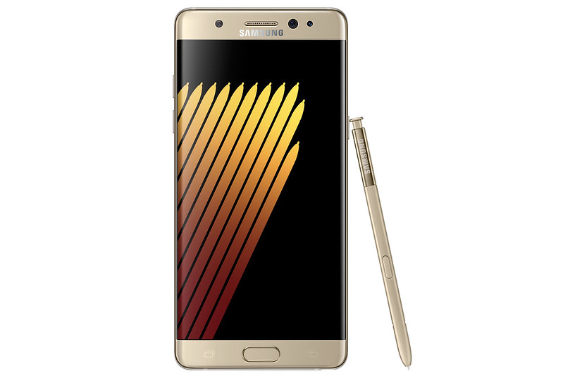 Samsung Galaxy Note 7 - Gold Platinum - Front