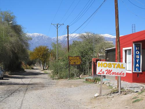 """Cafayate: notre hôtel """"Cabañitas del Suri"""", avec vue sur les sommets enneigés"""