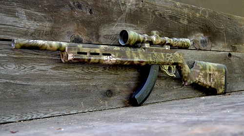 Rifle & Scope Skin in Mandrake Camo