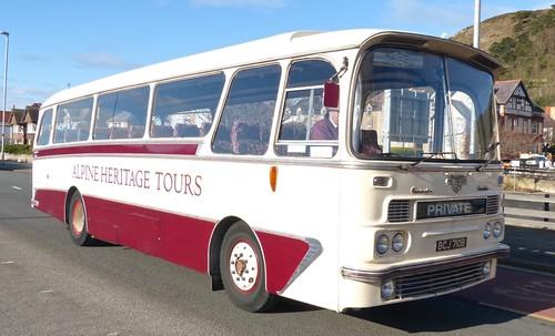BCJ 710B 'Alpine Travel' Leyland Tiger Cub / Harrington Cavalier on 'Dennis Basfords railsroadsrunways.blogspot.co.uk'