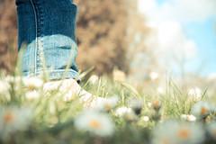 [フリー画像素材] 人物, ボディーパーツ - 足, 人物 - 花・植物 ID:201204301600