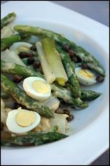 Salade d'asperge et poireaux