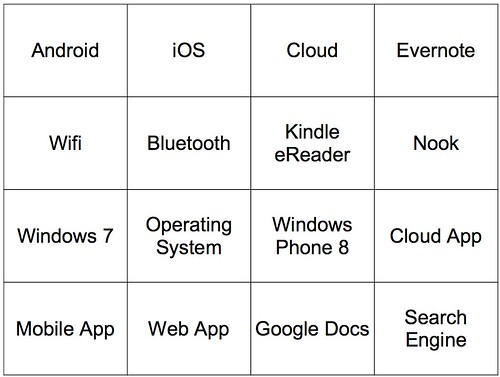 Cloud App Bingo (draft 1)