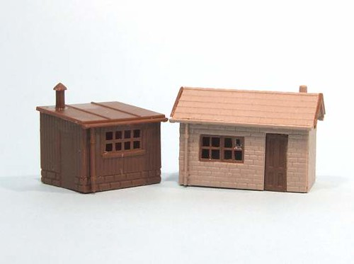 Unpainted huts