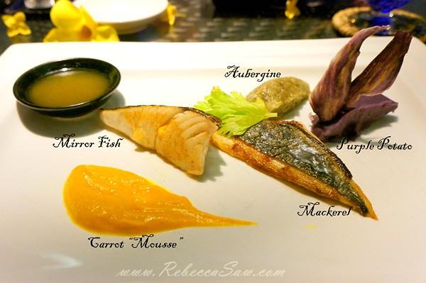 Fish - tanjong jara resort - Chef Florent Passard