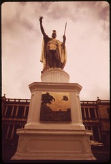 Statue of King Kamehameha the Great who ruled Hawaii from 1795 to 1819, October 1973
