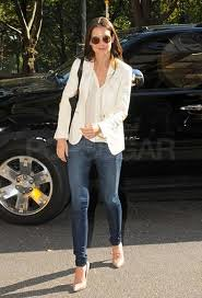 Katie Holmes White Blazer Celebrity Style Fashion
