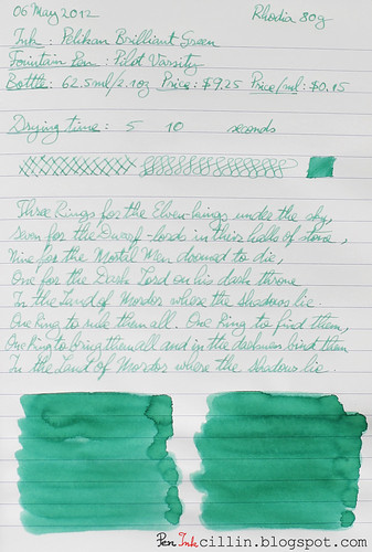 Pelikan Brilliant Green on Rhodia