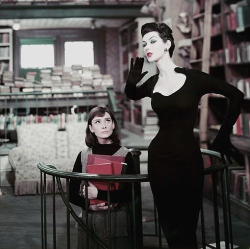 Dovima & Audrey Hepburn by 50'sfan