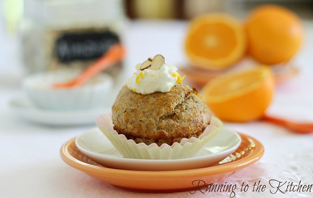 Orange almond muffin