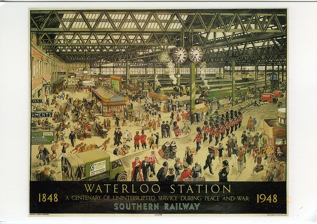 postcard from Waterloo Station, London, June 2012