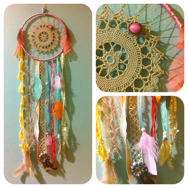 Custom order dream catcher flickr photo sharing for Materials to make a dreamcatcher