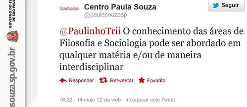 Tweet - @paulasouzasp