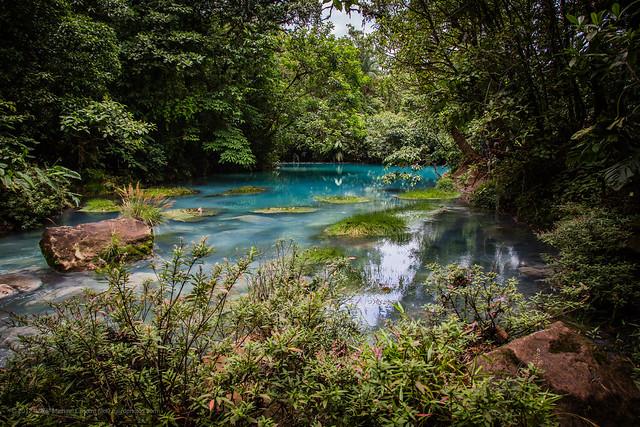 Rio Celeste Catarata (Sky Blue River) near volcan Tenorio