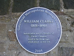 Photo of William Clarke blue plaque