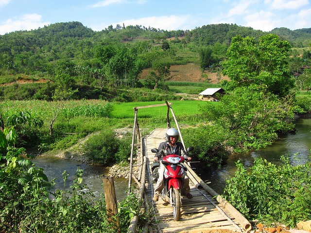 Bamboo Bridge Crossing